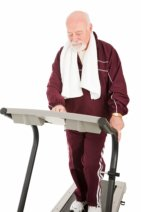 Senior on Treadmill