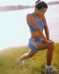 physical fitness stretching lady
